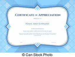 certificate of appreciation template in vector with applied