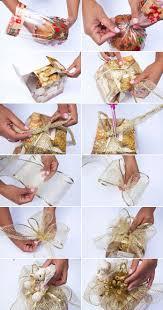 diy christmas gift wrap ideas panettone christmas cake gold ribbon