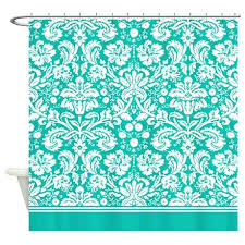 Teal Damask Curtains Teal Damask Curtains Teal Blue Damask Shower Curtain By Teal