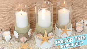 Beach Centerpieces Dollar Tree Beach Candle Holders Centerpiece Tutorial Youtube