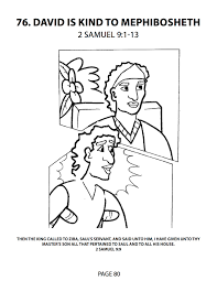 david and mephibosheth coloring page coloring pages ideas