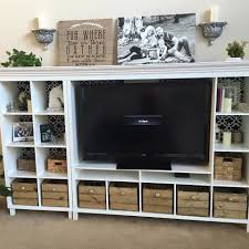 Ikea Wall Unit Hack Sincerely Stevie Our Diy Entertainment Center Ikea Hack