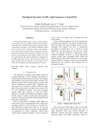 Traffic Light Order Intelligent Dynamic Traffic Light Sequence Using Rfid Pdf