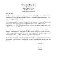cover letter secretary cover letter legal secretary cover letter