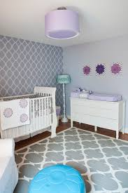 purple grey nursery transitional with teal ottoman wooden kids