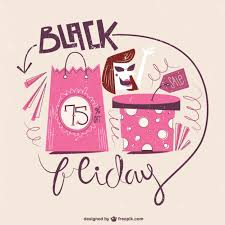 black friday pink sale attract more customers with these illustrative freebies for black