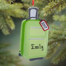 personalized suitcase ornament decoration kimball