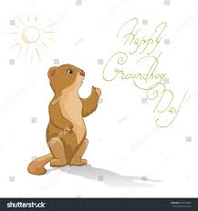 groundhog day cards groundhog day card stock vector 555358984