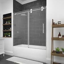 glass bathtub for sale shop bathtub doors at lowes com