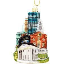 boston cityscape glass ornament novelty nostalgia