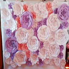 flower backdrop 61pcs set paper flowers wedding backdrop paper flower