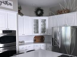 gray stained kitchen cabinets before and after professional cabinet finisher providing cabinet finishing