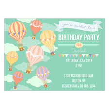 air balloon birthday invitations u0026 cards on pingg com