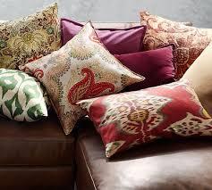 jules printed velvet pillow cover pottery barn