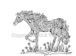 coloring carousel horse coloring pages
