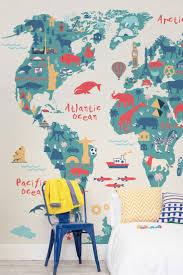world map childrens room decoration idea luxury lovely world