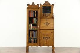 Oak Revolving Bookcase Bookcases Library Cabinet Harp Gallery Antique Furniture