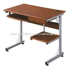 Desk With Pull Out Table China Computer Desk With Pull Out Keyboard Panel Printer Shelf