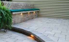 Bench Lighting Seating Wall Designs Moscarino Outdoor Creations