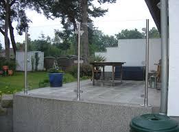 windschutz balkon plexiglas windschutz terrasse panther glas ag