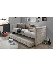 Couch Trundle Bed Christmas Savings On Baxton Studio Alena Fabric Upholstered Daybed