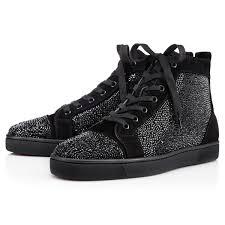 louis strass men u0027s flat black strass men shoes christian louboutin