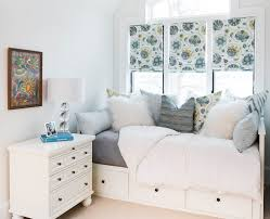 outstanding daybed bedroom idea with flower window curtains and