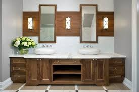 Wooden Mirrored Bathroom Cabinets 21 Fantastic Bathrooms With Two Mirrors Pictures