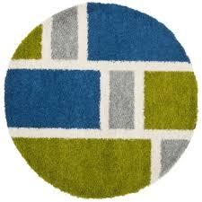 Squares Rug Blue Shag Rug 10u002639 X 10u002639 New Premium Blue Shag Faux