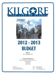 Kilgore Texas Map Budgets City Of Kilgore