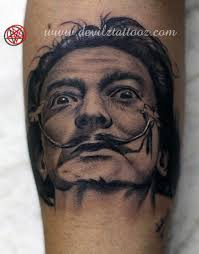 salvador dali tattoo by lokesh tattoonow