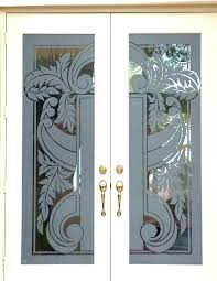Etched Glass Exterior Doors Glass Etching Designs Decor Glass Entry Doors Custom Etched Glass