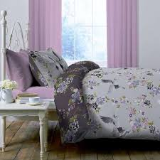 Dunelm Mill Duvet Covers Crane Grey Reversible Duvet Cover And Pillowcase Set Dunelm