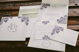 rose gold and letterpress art deco wedding invitations bella figura