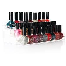 amazon com nail polish organizer habibee clear acrylic nail