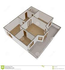 3d model flat with balcony royalty free stock image image 24849456