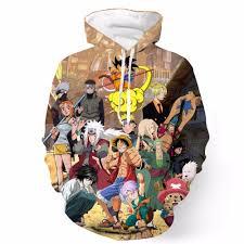 anime themed 3d hoodie free shipping worldwide