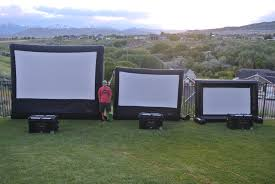 inflatable movie screen u0026 outdoor cinema rental salt lake city