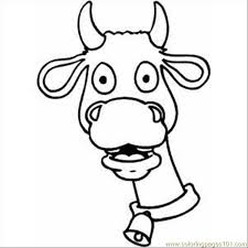 shocked cow coloring page free cow coloring pages