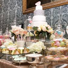 Gold Table L Gold And Pastels Dessert And Sweet Table Graduation
