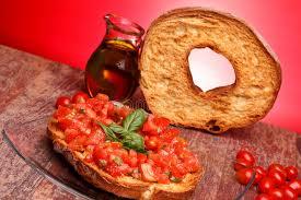 cuisine traditionnelle italienne friselle géant cuisine traditionnelle italienne image stock