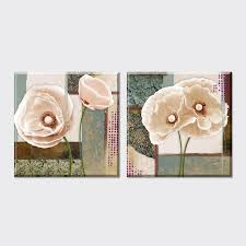 Poppy Home Decor 2 Vintage Blue Poppy Flowers Wallpaper Wall Pictures