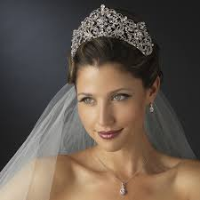 wedding tiara antique silver rhodium royal bridal tiara bridal hair