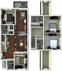 Floor Palns by Student Apartment Floorplans The Retreat