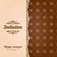 Invitation Card Border Vintage Invitation Card Template With Damsk Ornament And Curly