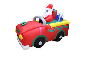 indoor lighted gift boxes 6 foot long lighted christmas inflatable santa claus riding red car