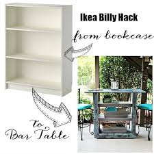 Ikea Billy Bookcase Ikea Billy Bookcase Hack To Outdoor Bar Table Hometalk