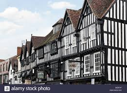 tudor style timberframe architecture in stratford upon avon