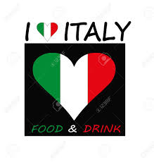 logo for the restaurant with the italian flag royalty free