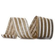 burlap wired ribbon the robert stanley collection 2 1 2 white chevron wired edge